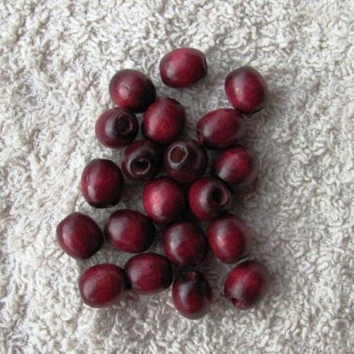 Vínově červené - dřevěné - 50 kusů