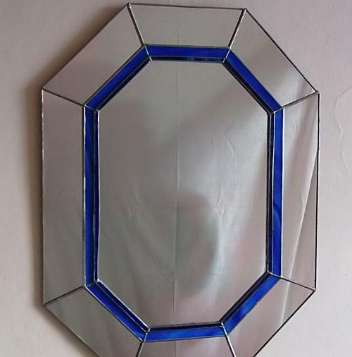 benátské zrcadlo modré 1