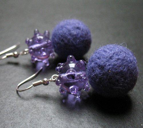 Plyšky s vinutkou fialové