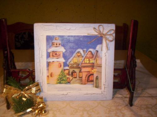 Pěkný vánoční obrázek - Vánoční městečko 2