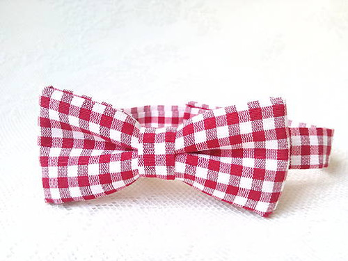 Bow tie for kids (red/white)