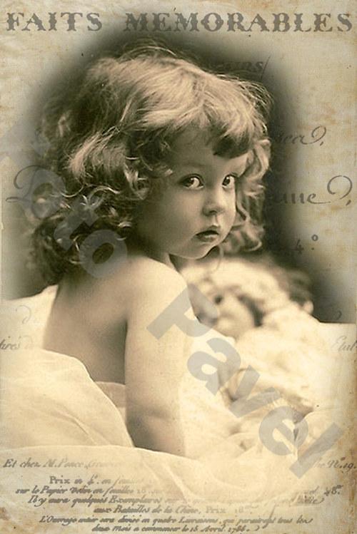 Vintage motiv - foto holčičky 3