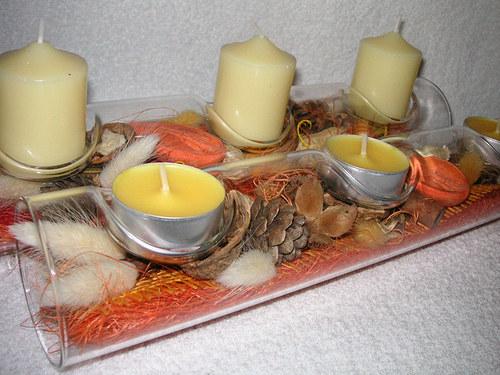 Na 3 svíčky...do oranžova