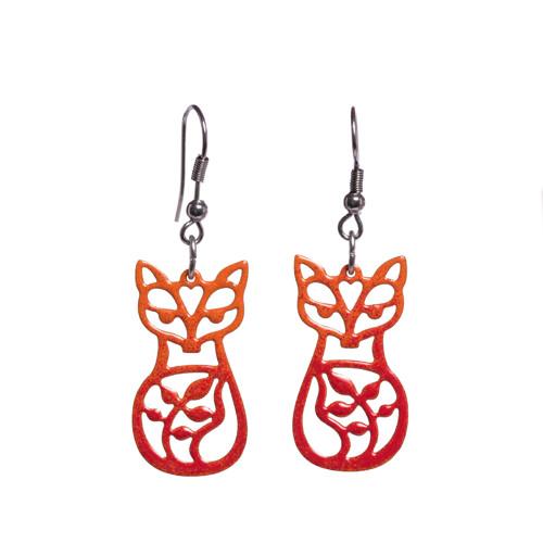 náušnice folklorní lišky