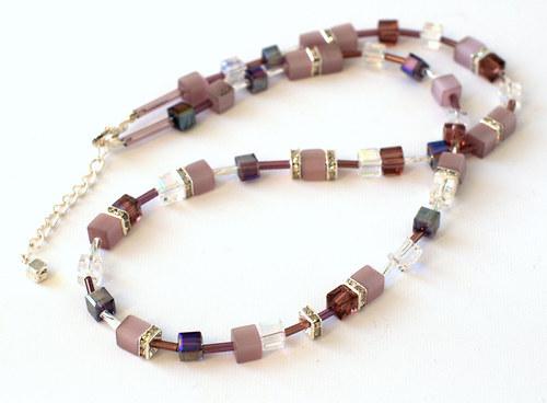 kostičkový set fialkovostříbrný