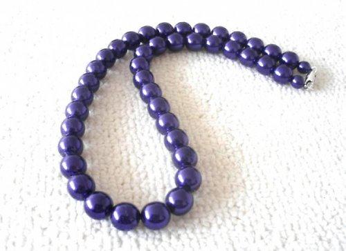 Náhrdelník vosk fialový 12mm