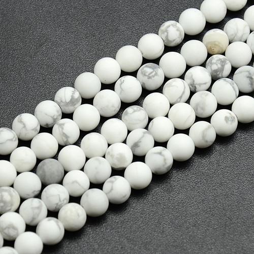 Frost bílý howlit 8 mm / 5 ks