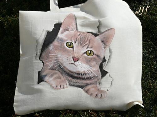 Malovaná taška kočka