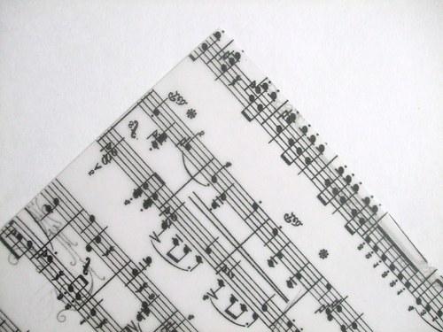 Pergamenový papír - Noty