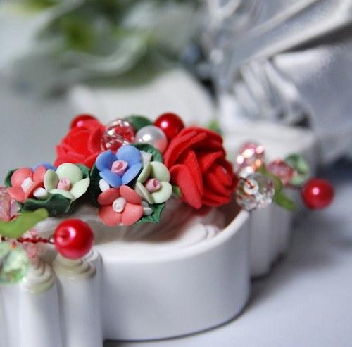 Spona do vlasů Vintage Roses youth