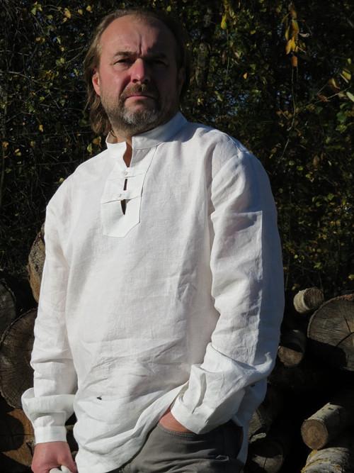 Pánská lněná košile White Nature