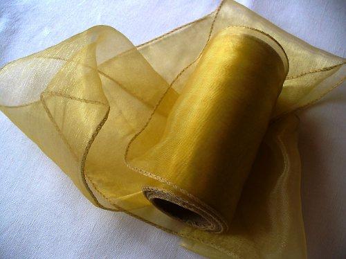 organza stuha 11cm- zlatá