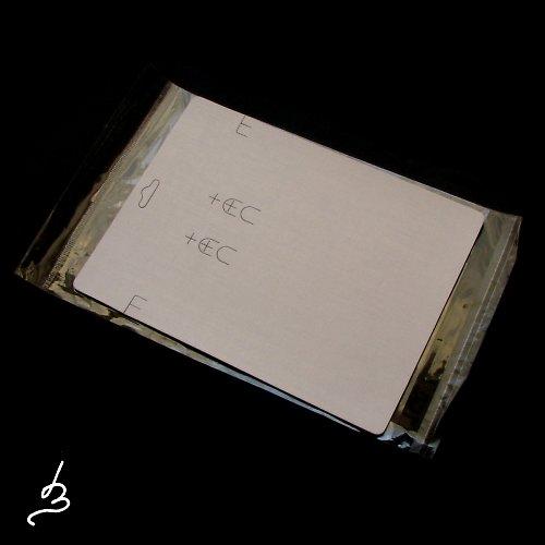 Karta na šperky světlá - 1 sada