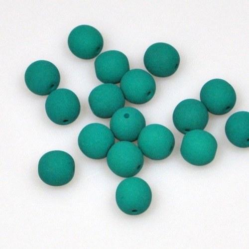 Neonové korálky 50 ks / 6 mm / tmavě zelené