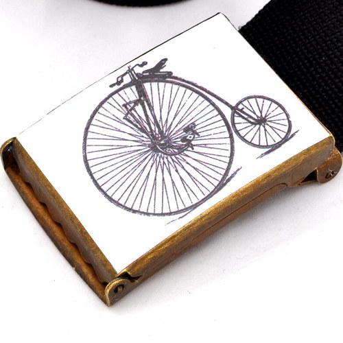 Opasek bicykl - bílá