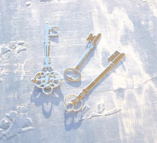 Tři klíčky (stříbrné)