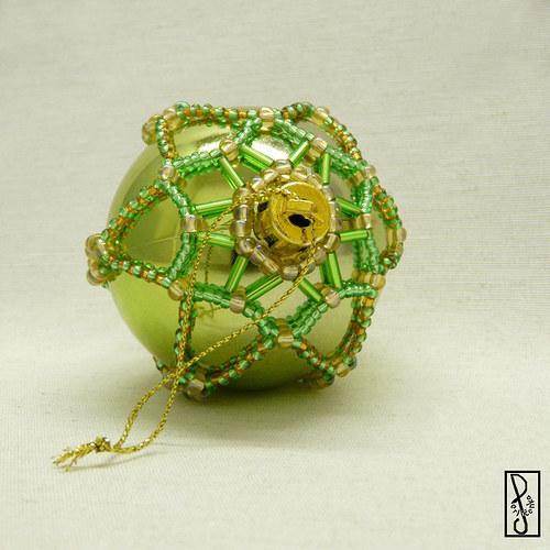 Vánoční koule zelená 3