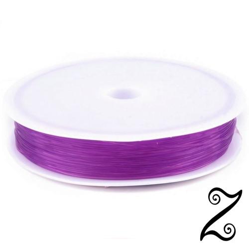 Pruženka kulatá, fialová světlá, Ø 0,4-0,6 mm