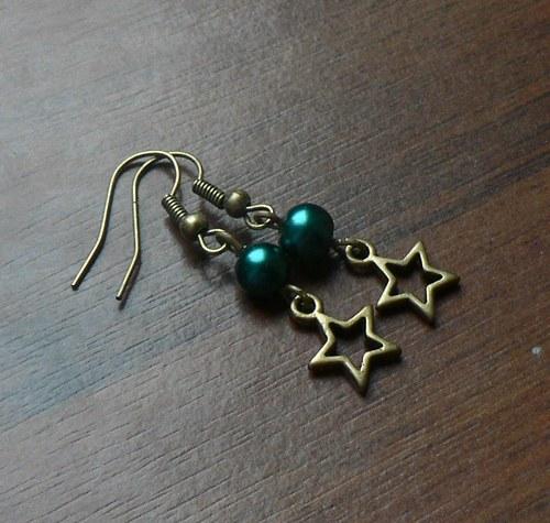 Vánoční náušnice - hvězdičky