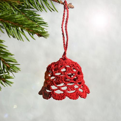 Vánoční zvonek 1 - červený