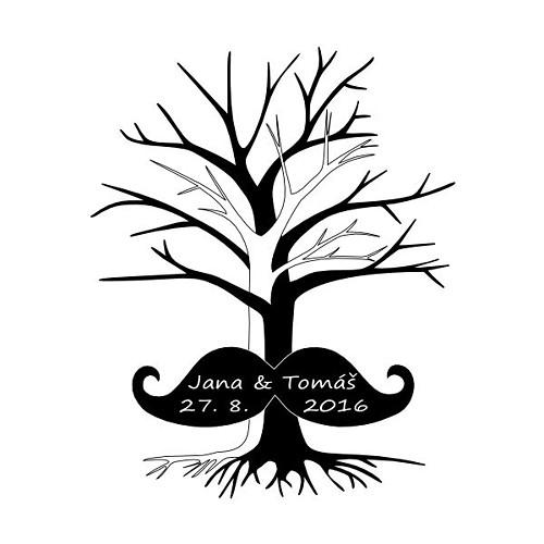 PDF Svatební strom MUSTACHE - pro váš tisk