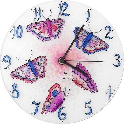 Motýlci - hodiny kulaté 25cm