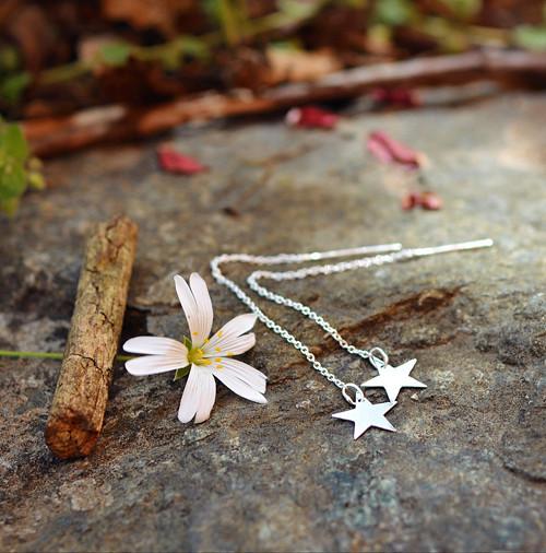 Řetízkové s hvězdičkami :-) AG naušničky