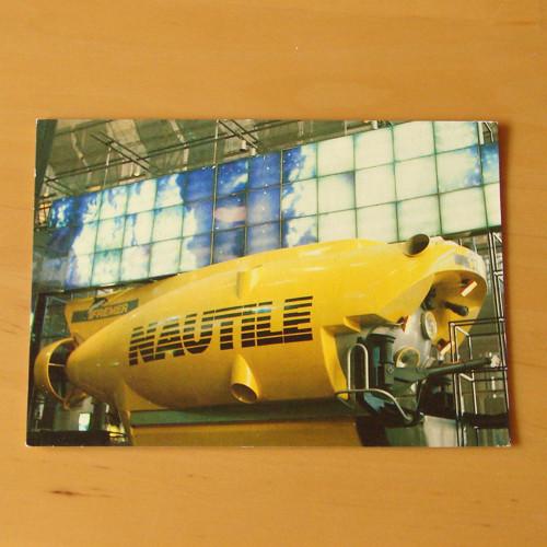 Nautile - průzkumná ponorka - pohlednice