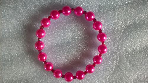 náramek : tmavě růžový