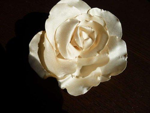 Saténová růže - návod + materiál - SLEVA