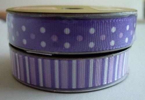 Stužka fialová 1,5 m - proužky