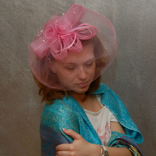 Lady Pink ... klobouk či fascinator