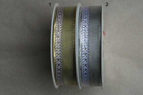 Ozdobná stuha s drátkem 25 mm