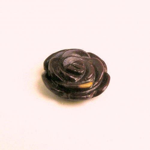Květ, jaspis mookait, přívěsek - 20 mm