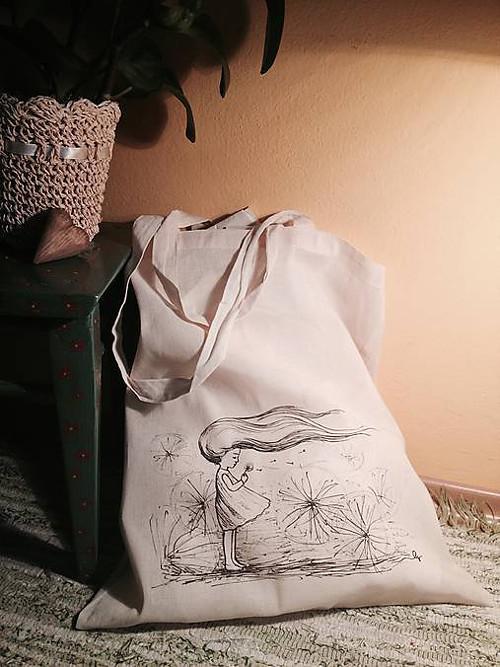 Nákupná taška Dievča s púpavou