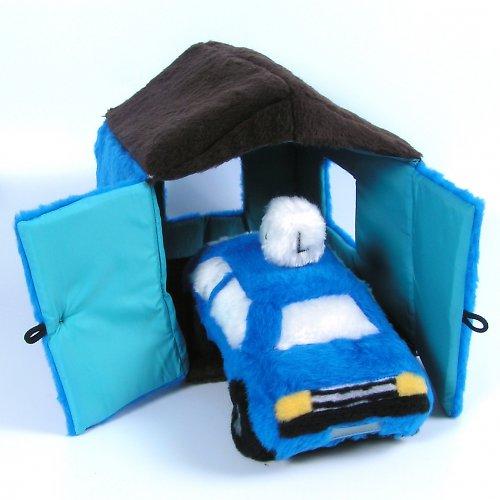 Modrý skládací dům - autorská hračka