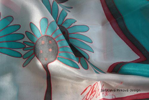 autorský doplněk - malované hedvábí
