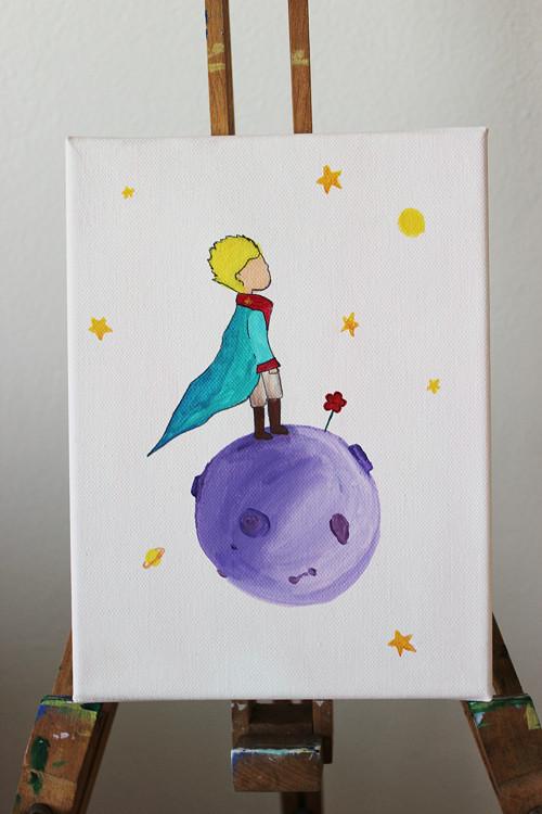 Malý Princ - pohádkový obrázek