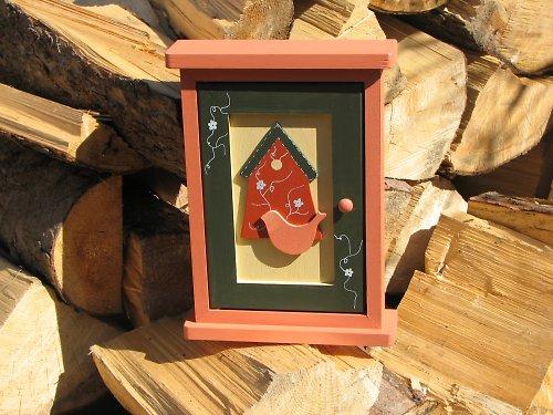 Dřevěná skříňka na klíče ptačí ČIMČARA