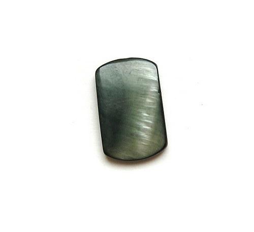 Perleť, dvoudírkové obdélníky, 23 x 14 mm - 1 kus