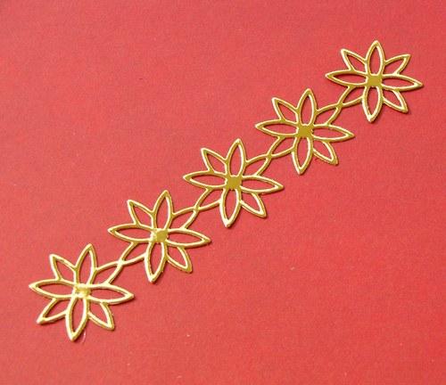 Bordura s vánočními hvězdami