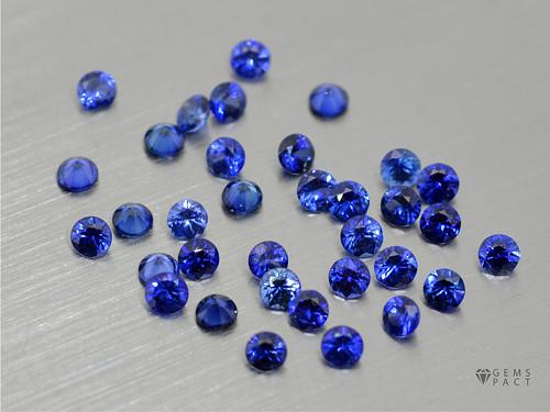 SAFÍR přírodní modrý kulatý 2,5 mm DIFUZE