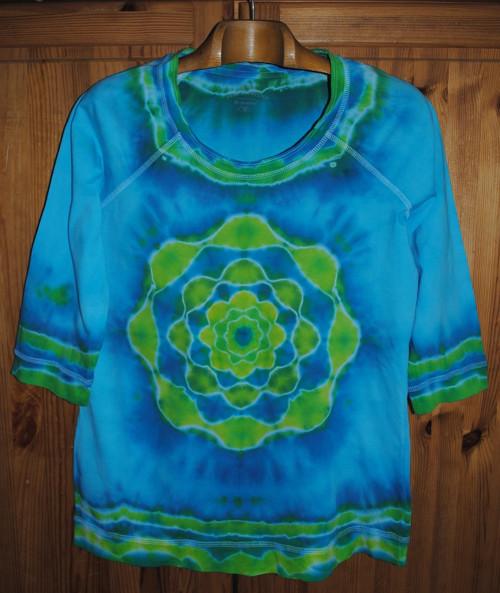 Batikované tričko/tunika vel. 42 - Vodní víla