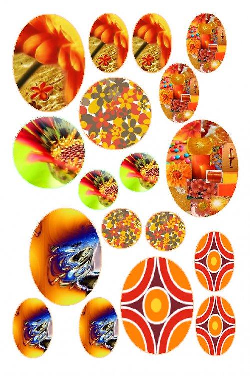 mix motivů oranžových