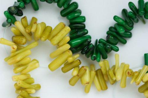 Korály – žlutozelená rýže, 5 cm