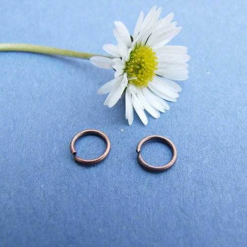 Spojovací kroužek, Ø 6mm tl.0,7mm, staroměď, 100ks