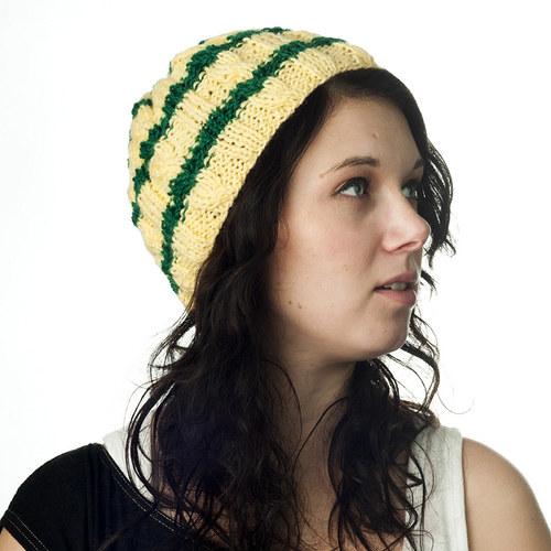 Winter colors - pruhovaná čepice