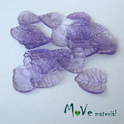 Akrylové transparentní lístečky, 20ks, fialové