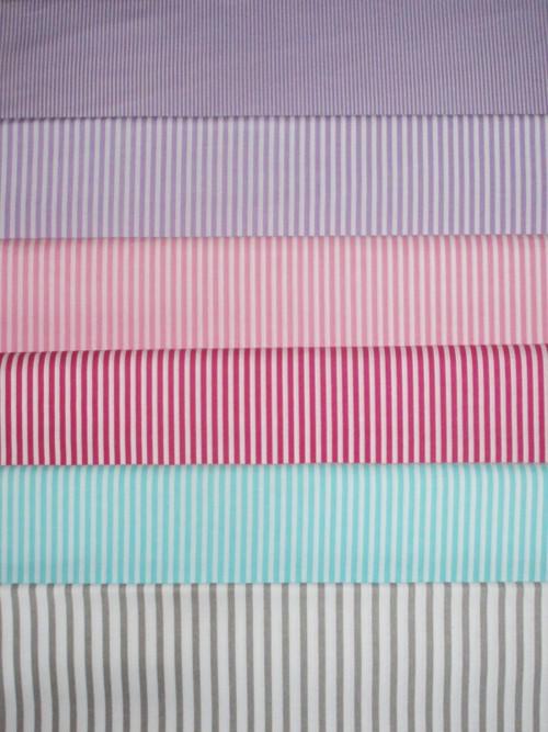 Dekorační látka metráž proužky mix barev