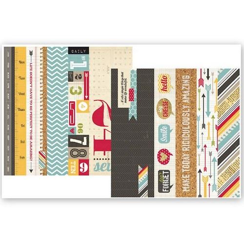 Scrapbookový papír SS / Border Strips/Kolekce 24/7